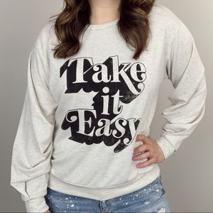 Take It Easy Graphic Pullover
